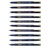 サクラクレパス 水性ペン ピグマ 10種セット 黒 ESDK-10#49