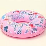 Ostulla 大人のピンクの縞模様の水泳リングインフレータブル水泳リング肥厚PVC素材スイミングプール大人の水フロートリング安全リングは丈夫ですスイミングビーチウォーターゲーム入浴スイミング補助玩具 気配りの行き届いたサービス