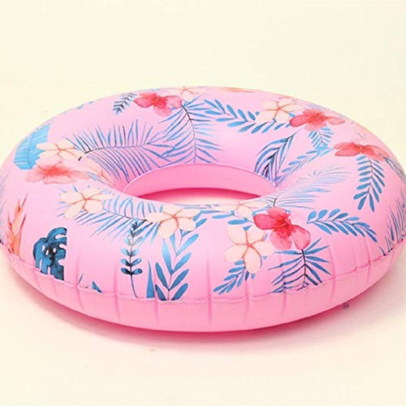 の量排出解任Hafraga 大人のピンクの縞模様の水泳リングインフレータブル水泳リング肥厚PVC素材スイミングプール大人の水フロートリング安全リングは丈夫ですスイミングビーチウォーターゲーム入浴スイミング補助玩具 Professional after sales(売り上げ後の専門家) (Color : Pink)