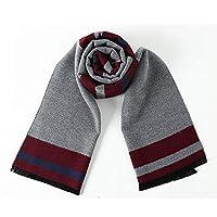 メンズ冬のスカーフ メンズ暖かい冬のスカーフは、ワンサイズを編みました (Color : Multi-colored, Size : 180x30cm)