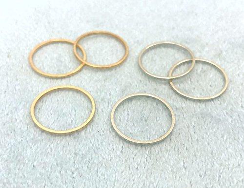 ◆ フレームパーツ 丸形 直径(外径)16mm 20個入り 真鍮製 フレーム アクセサリー金具 枠 ニッケルシルバー
