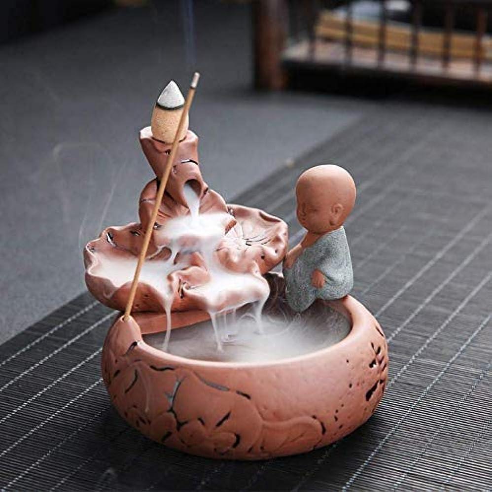 溝回路相互デコレーション逆流香バーナー、手作りコーン香ホルダー逆流香ホルダー10個香コーン,Brown