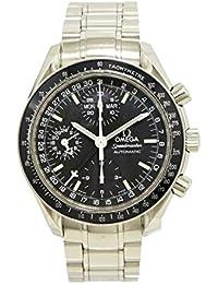 [オメガ] OMEGA スピードマスター トリプルカレンダー クロノグラフ ブラック文字盤 メンズ AT オートマ 腕時計 3520.50 3520 50 [中古]
