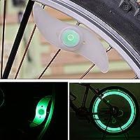diizii LED自転車ホイールスポーク電球、LEDフラッシュモード防水自転車タイヤスポークライトKeep Safe and Fun for Night Riding S グリーン DiiZii-01