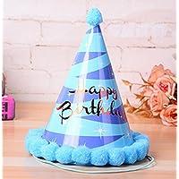 HuaQingPiJu-JP 誕生日パーティー用品輝く星のコーン帽子リトルソフトボールCap_Blue