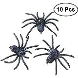BESTOYARD 10個  蜘蛛 スパイダーモデル おもちゃ 玩具 部屋 装飾 贈り物 黒い プラスチック ハロウィン コスチューム 小道具