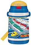 プッシュオープン式 保冷シリコンストローボトル 400ml プラレール 14