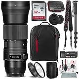 Sigma 150–600mm F/5–6.3DG OS HSM Contemporaryレンズfor Canon EF with 32GBカード、Xpixカメラクリーニングキット、デラックスバンドル