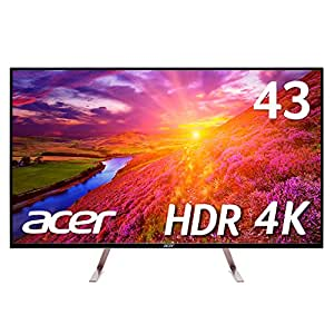 Acer モニター ディスプレイ ET430Kwmiiqppx 43インチ/IPS/4K/HDMI2.0x2・DP・MiniDP/HDR Ready対応