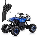 ラジコンカー IRUIS RCカー 4WD 四駆 車 無線操作 初心者に最適 高速オフロードカー(青)