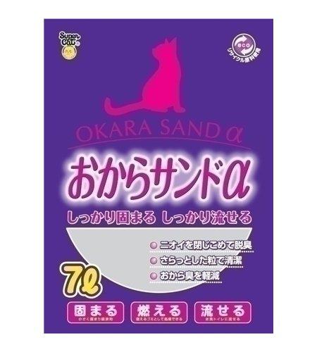 スーパーキャット 猫砂 スーパーキャット おからサンドα 7L