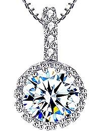 La-Belle-Fleur SWAROVSKI(R)?エレメンツ 大粒使用 5石 ネックレス czダイヤモンド 豪華ジュエリー ギフトボックス付き (スワロフスキー(R)?エレメンツ)