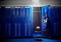 Yeele 写真撮影用背景幕 - 写真背景 - 6x4フィート バスケットボールクラブ バスケットボール ロッカー ルーム背景 写真プレーヤー 大人用 ポートレート 写真ブース 撮影スタジオ小道具 写真撮影