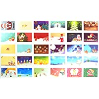 サンタクロース クリスマスポストカード クリスマスカード 30枚セット C