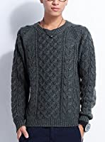 (ベストマート)BestMart アラン編み ニット メンズ セーター 長袖 クルーネック 603025