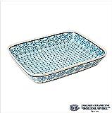Zaklady Ceramiczne Boleslawiec/ザクワディ ボレスワヴィエツ陶器 グラタン皿(スクエア)-966-ポーリッシュポタリー