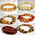 RAW BALTIC AMBER Baby Teething Bracelets Anklets (7…