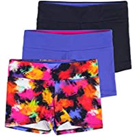 Lucky & Me Layla Girls Dance Shorts, Gymnastics & Dancewear, 3-Pack, Premium Stretch