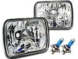 高品質◇角型2灯ヘッドライト H4バルブ・ポジション付属 トヨタ ランドクルーザープラド 70系 / ハイラックスサーフ / MR2 / セリカ