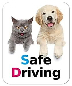 kmag 犬&猫マグネット Safe Driving