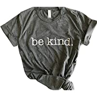 YEMOCILE Be Kind T Shirts Women Short Sleeve Casual Tops Letter Print Blessed Shirt Inspirational Tees Soft Tops