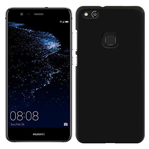[Breeze-正規品] iPhone ・ スマホケース ポリカーボネイト [Black] HUAWEI P10 lite ケース ファーウェイ p10 lite カバー SIMフリー カバー 液晶保護フィルム付 全機種対応 [P10L]