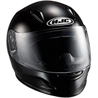HJC(エイチジェイシー)バイクヘルメット フルフェイス ブラック CL-Y ソリッド HJH057 L (頭囲 53cm~54cm)