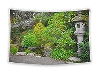 Gear新しい壁のタペストリーのベッドルームHangingアート装飾College寮ボヘミアン、美しい日本語グリーン公園で秋時間シアトル Small, 36 inches wide by 26 inches tall 5417158-GN-WT1-2636