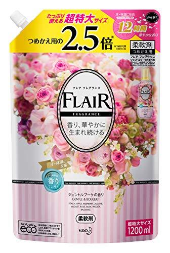 『【大容量】フレアフレグランス 柔軟剤 ジェントル&ブーケの香り 詰め替え 1200ml』のトップ画像