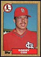 野球MLB 1987Topps # 621ダニー・コックスCardinals