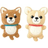 ハマナカ フェルト羊毛キット ふわふわ羊毛でつくる、フェルト犬 柴犬&チワワのストラップ H441-420 Designed by 須佐沙知子