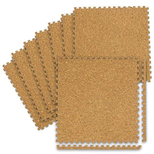 WEIMALL コルクマット 3畳 24枚 洗える ジョイントマット 大判 45cm 厚み0.8cm