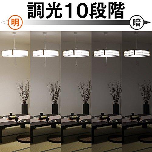 アイリスオーヤマ LED ペンダントライト 調光 調色 タイプ ~8畳 和風 PLC8DL-J