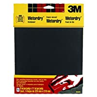 (Assorted-Grit, 1 Pack) - 3M Wetordry Sandpaper, 23cm by 28cm , Assorted Grit, 5-Sheet