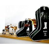折畳み式 男女兼用 防水 シューズ 収納 カバー M~Lサイズ対応  (L, ブラック)