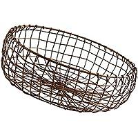 Fenteer ヴィンテージ 和風 手作り 収納バスケット フルーツ 野菜 バスケット ペン、文房具、香水など収納 多目的 全3サイズ  - L