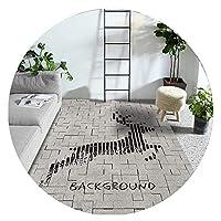ZEMIN 廊下敷きカーペット ラグ じゅうた 柔らかい 肌にやさしい マット イージーケア、 マルチサイズカスタマイズ可能 (Color : A, Size : 0.5x7m)