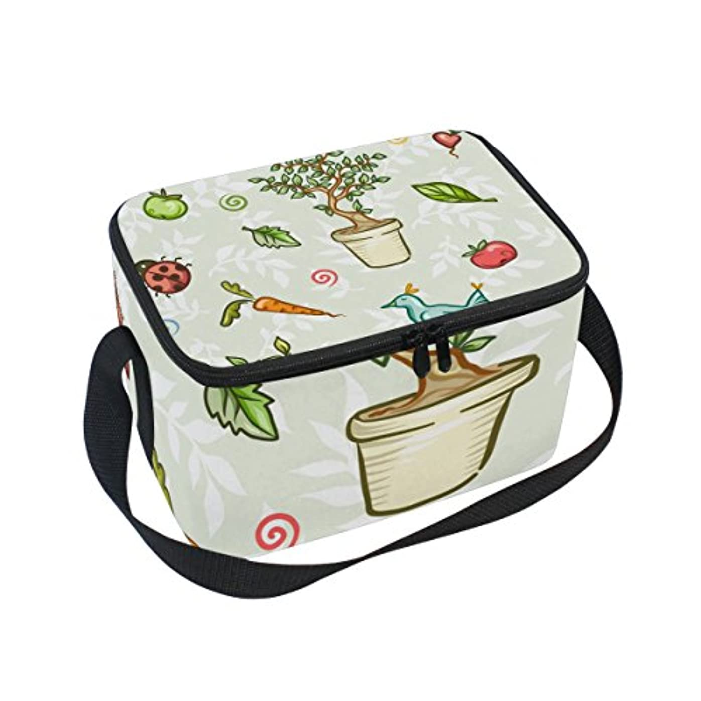 ごめんなさい軸群衆クーラーバッグ クーラーボックス ソフトクーラ 冷蔵ボックス キャンプ用品  植物柄 保冷保温 大容量 肩掛け お花見 アウトドア