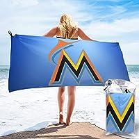 マイアミ・マーリンズ Miami Marlins バスタオル 速乾タオル Towel マイクロファイバー 瞬間吸水 ふわふわ 肌触りが優しい 軽量 80×160cm 70×140cm 水泳/スポーツ/旅行/家庭用