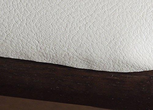 ベンチ チェアー 2人用 コンパクトタイプ (ブラック&ホワイト色)