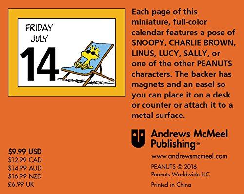 Peanuts 2017 Mini Day To Day Calendar Mini 画像付き英語辞書 Imagict