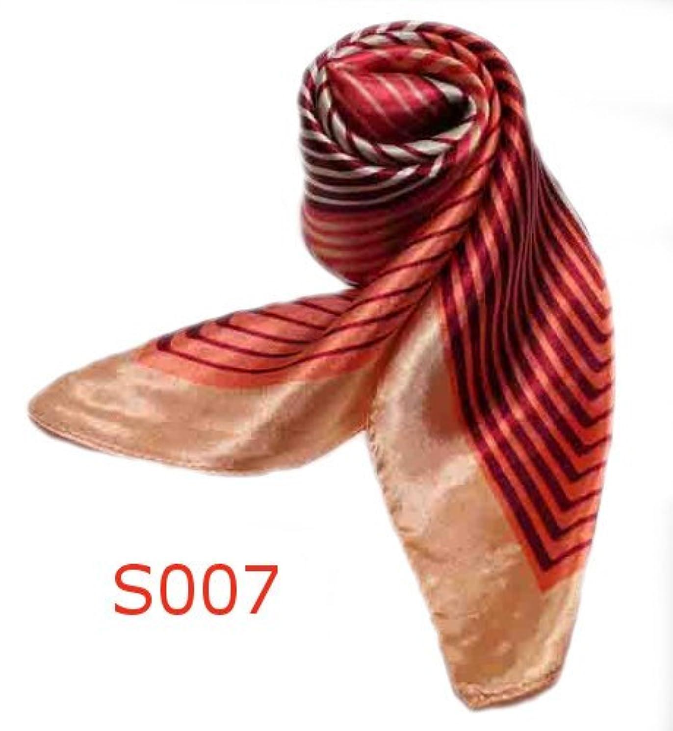 等々のりトレーニングシルク調スカーフ?企業制服スカーフ?60cm角 2012春 スカーフ(全10色)?中国雑貨 (s007)