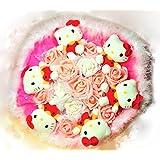 Hello Kitty ぬいぐるみキュートブーケ M ハローキティ サンリオ バラ ピンク 大きな花束 アートフラワー 造花