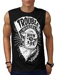 Wellcoda ライド 頭蓋骨 バイカー スローガン 男性用 S-5XL 袖なしTシャツ