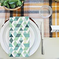 artzfolio明るいブルー三角形テーブルナプキンサテン生地 16inch x 16inch; SINGLE PIECE AZKIT26595298NAP_TB_L_01-S1_SN
