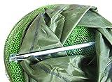漁具 網 ネット 釣り 魚入れ ※便利なエコ袋付き (緑, 直径25タイプ)