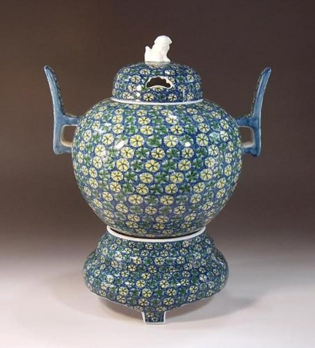 キッチン量で新しい意味有田焼?伊万里焼の陶器高級香炉|贈答品|ギフト|記念品|贈り物|小花紋様?陶芸家 藤井錦彩