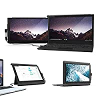 サンワダイレクト モバイルモニター ノートPC一体化可能 12.5インチ Type-C/USB接続 Win/Mac対応 Mobile Pixels DUEX Pro 400-LCD001
