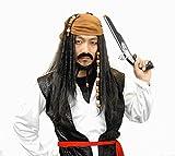 海賊 パイレーツ ジャックスパロウ コスプレ ウィッグ ヒゲ付き