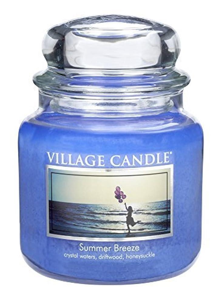 墓地送金大人Village Candle Summer Breeze 16 oz Glass Jar Scented Candle Medium [並行輸入品]